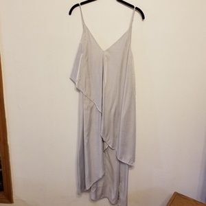 Free People stunning silver layered dress